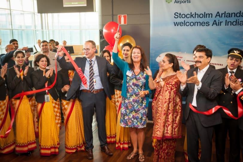 Air India flyger den nya direktlinjen med en Dreamliner