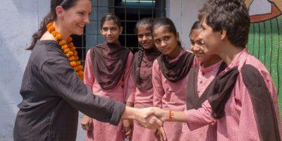skola i den indiska staden Lucknow som fått nya skoltoaletter